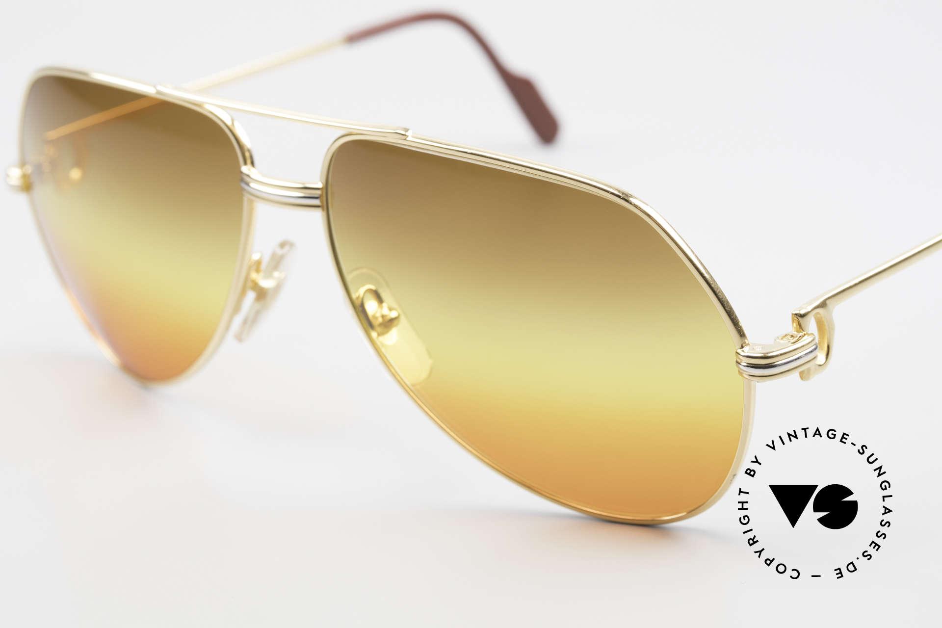 "Cartier Vendome LC - M TRIPLE GRADIENT DESERT SUN, unique sun lenses, triple gradient ""desert sun"", VERTU, Made for Men and Women"