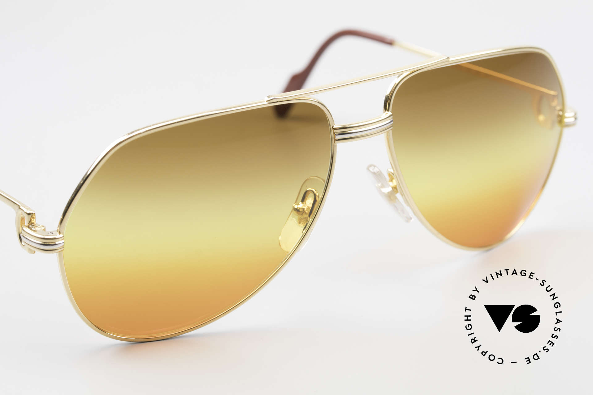 Cartier Vendome LC - M TRIPLE GRADIENT DESERT SUN, CUSTOMIZED LENSES: you won't find them elsewhere!, Made for Men and Women
