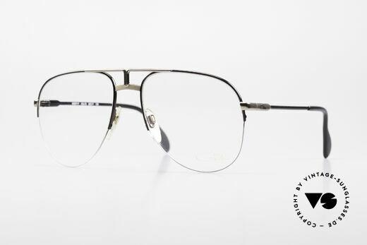 Cazal 717 Old 80's Glasses Semi Rimless Details