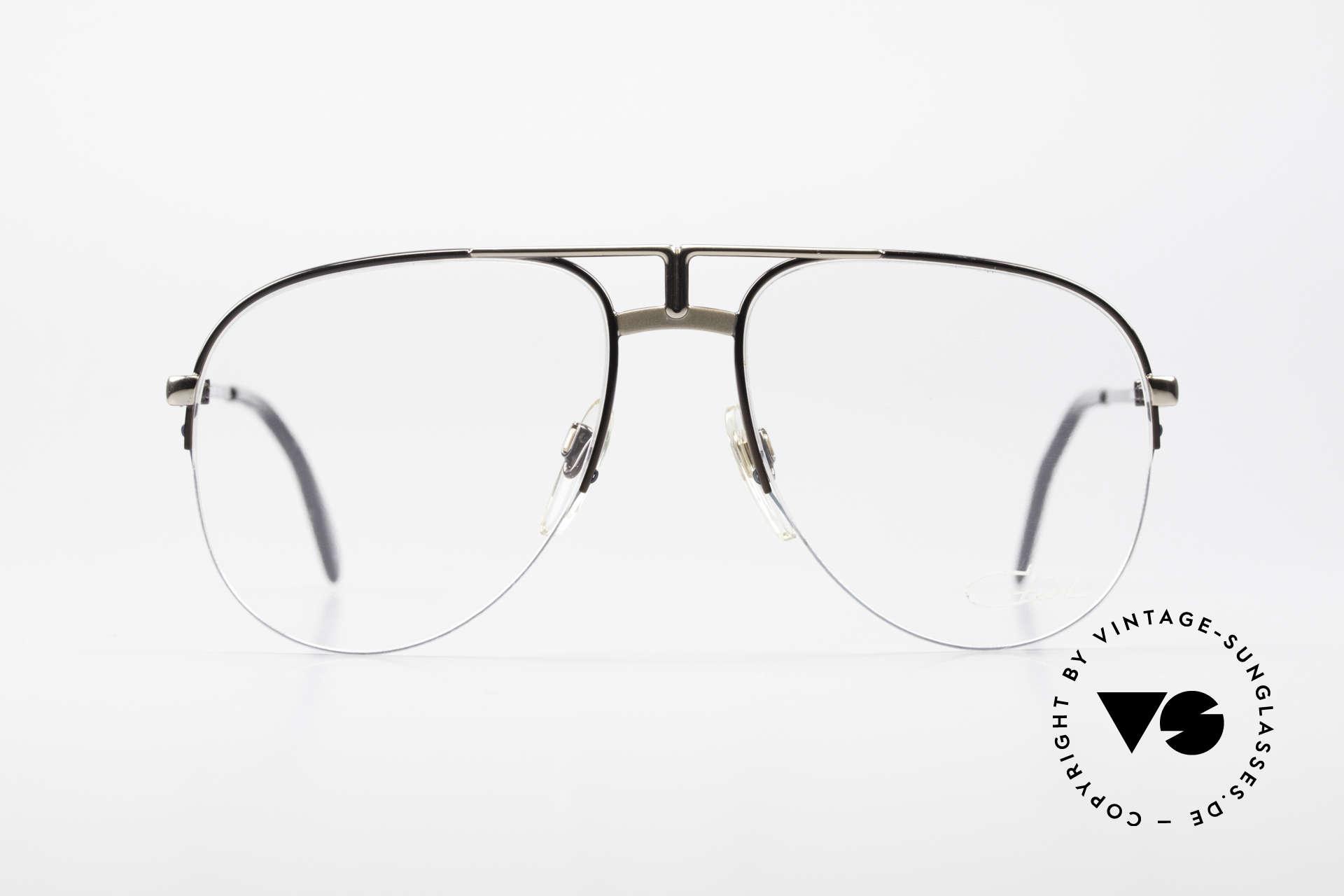 Cazal 717 Old 80's Glasses Semi Rimless, 1980's designer eyeglasses by CAri ZALloni, Made for Men