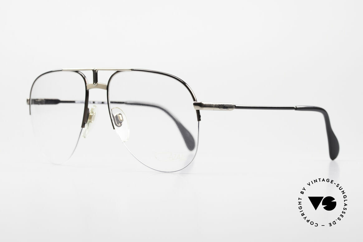 Cazal 717 Old 80's Glasses Semi Rimless, half rimless aviator design (1. class comfort), Made for Men