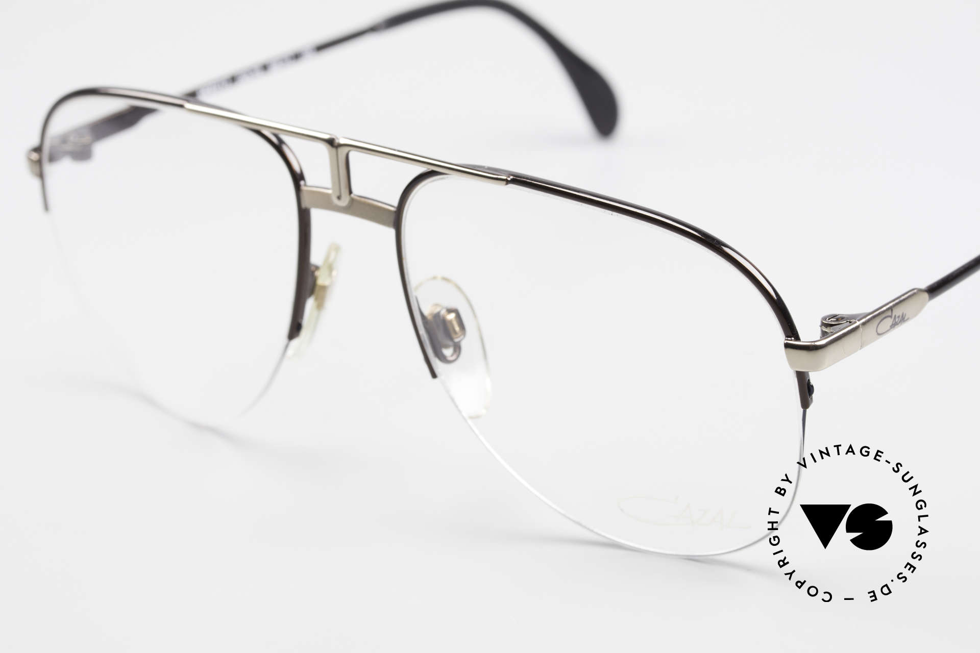Cazal 717 Old 80's Glasses Semi Rimless, unworn (like all our vintage frames by Cazal), Made for Men