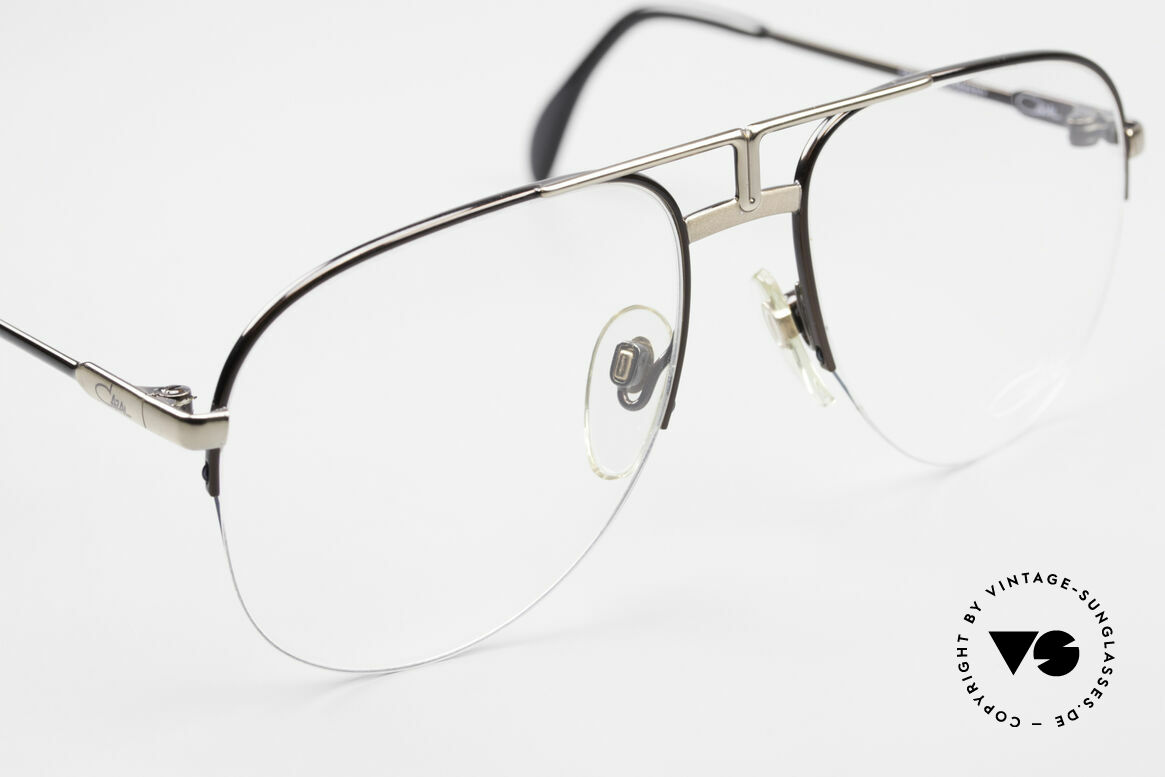 Cazal 717 Old 80's Glasses Semi Rimless, NO retro fashion; an app. 35 years old rarity, Made for Men