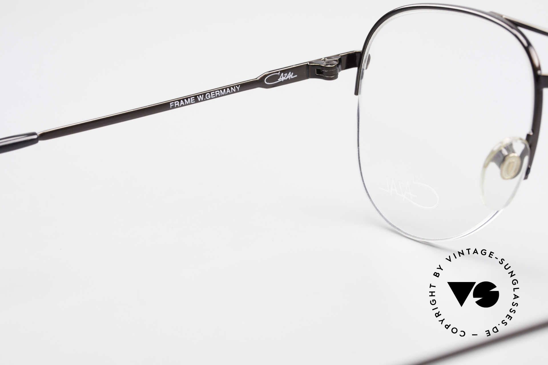 Cazal 717 Old 80's Glasses Semi Rimless, demo lenses can be replaced with prescriptions, Made for Men