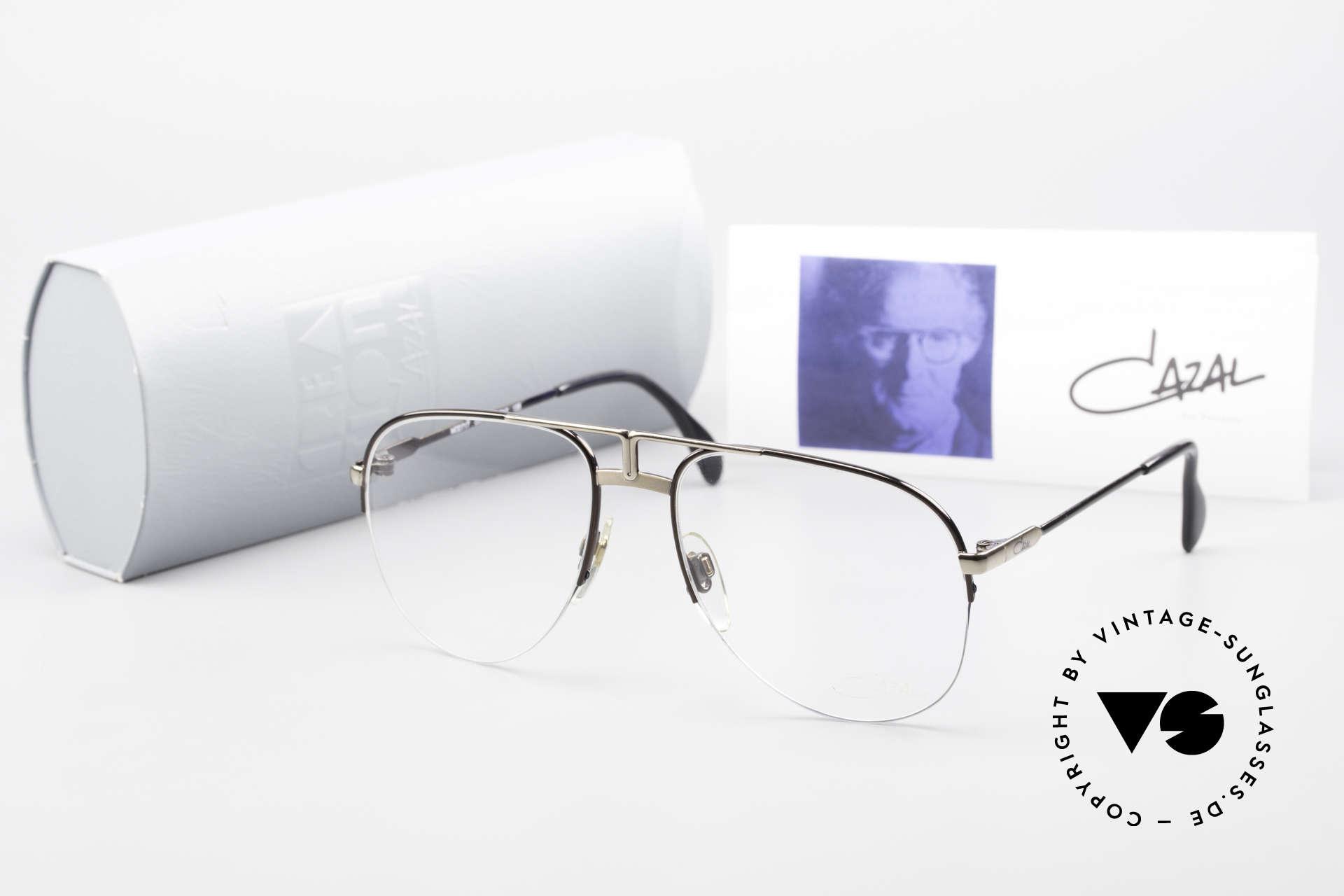 Cazal 717 Old 80's Glasses Semi Rimless, Size: medium, Made for Men