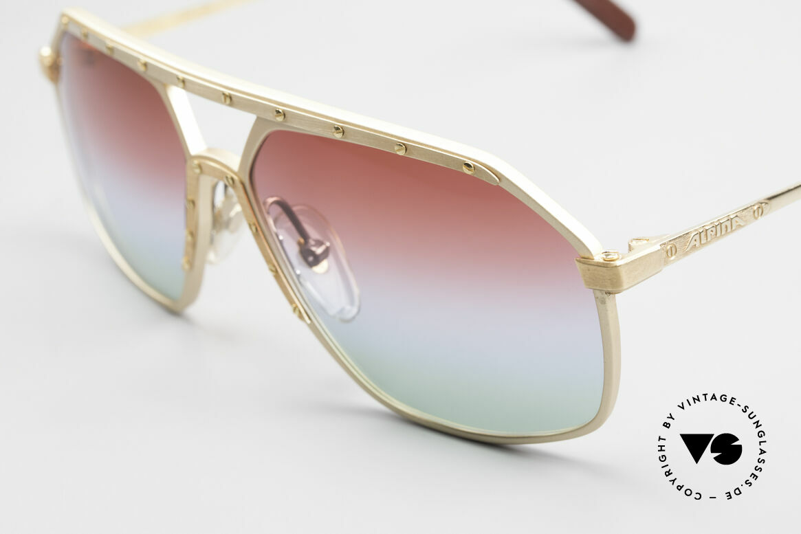 Alpina M6 West Germany Sunglasses 80's, the tint shines like polar lights, TRULY UNIQUE!, Made for Men and Women