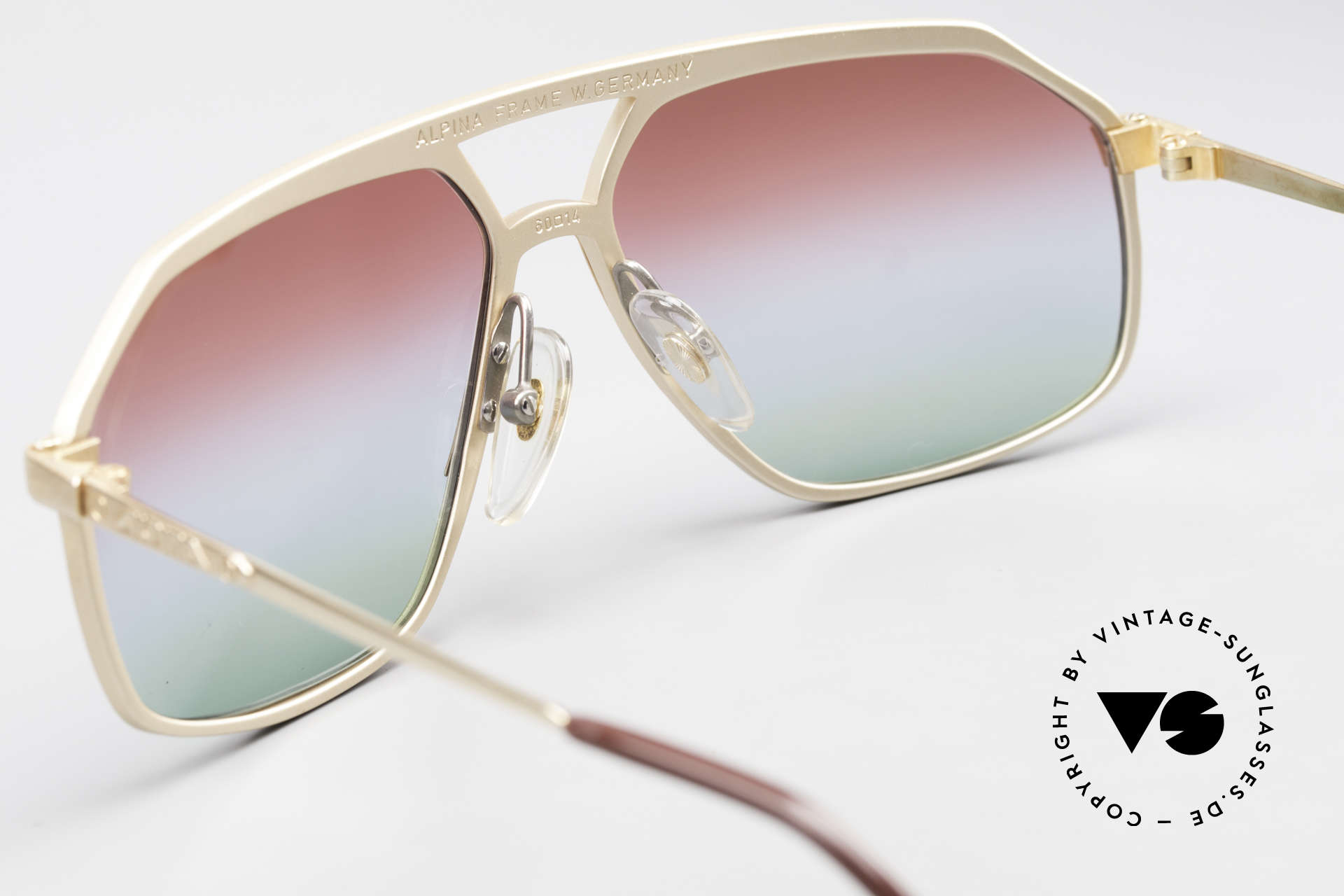 Alpina M6 West Germany Sunglasses 80's, NO RETRO shades; but an old handmade RARITY!, Made for Men and Women