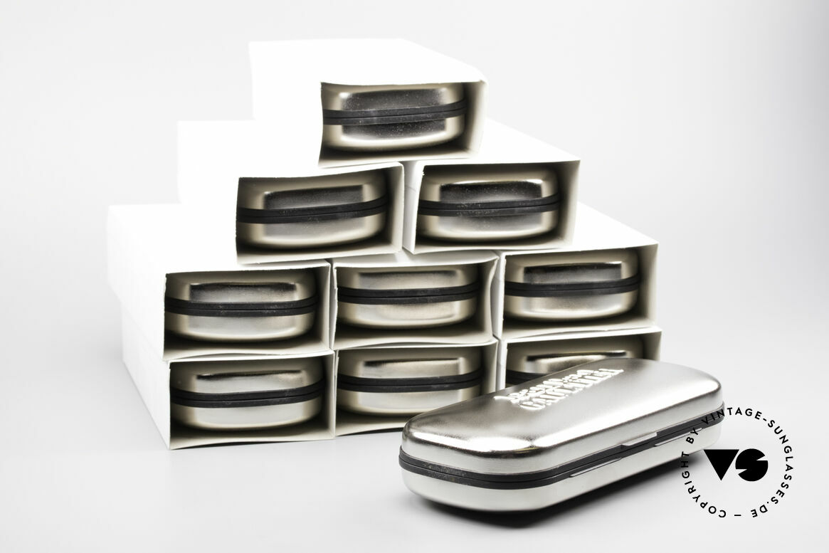 Jean Paul Gaultier 10 Cases Old Original JP Gaultier Cases, very strong hard cases, silver-chrome and black, Made for Men and Women