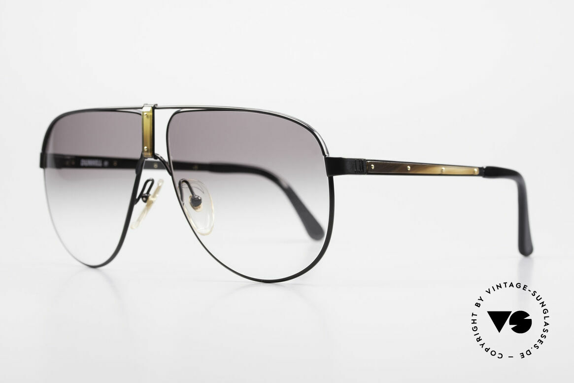 Dunhill 6043 Men's Shades With Horn Trims, black-chromed frame with genuine HORN trims, Made for Men