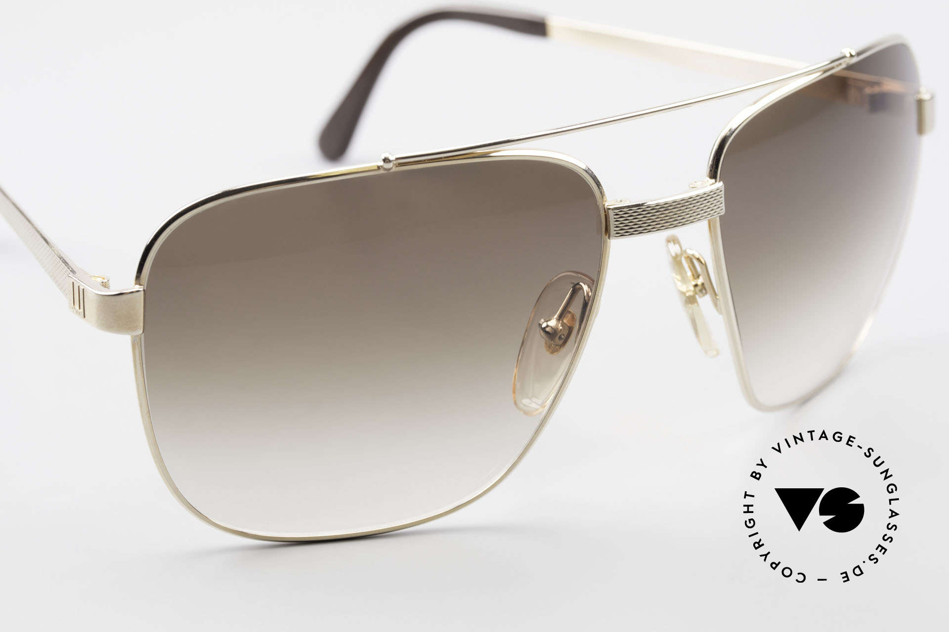 Dunhill 6036 Gold Plated Frame Comfort Fit, unworn (like all our rare old vintage Dunhill sunglasses), Made for Men
