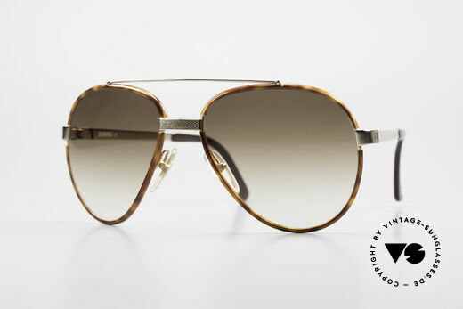 Dunhill 6023 80's Sunglasses Luxury Aviator Details