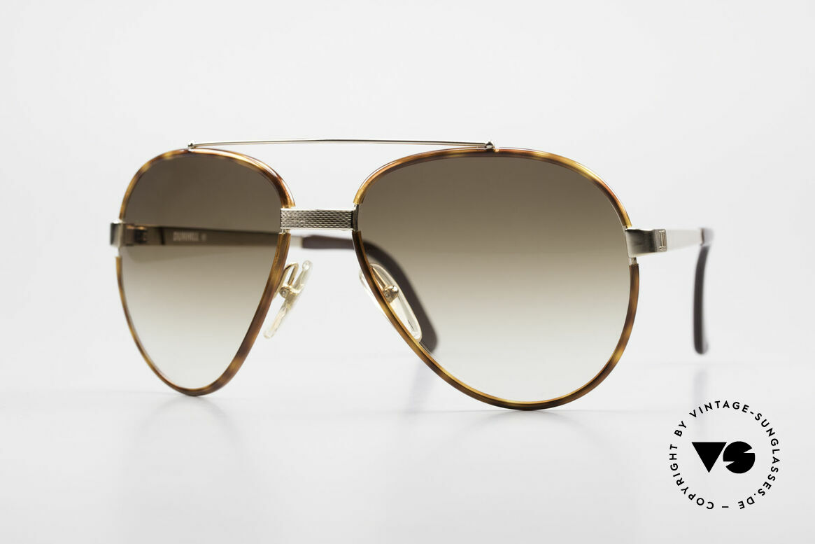 Dunhill 6023 80's Sunglasses Luxury Aviator, 80's A. Dunhill vintage sunglasses: 6023, 58/17, Made for Men