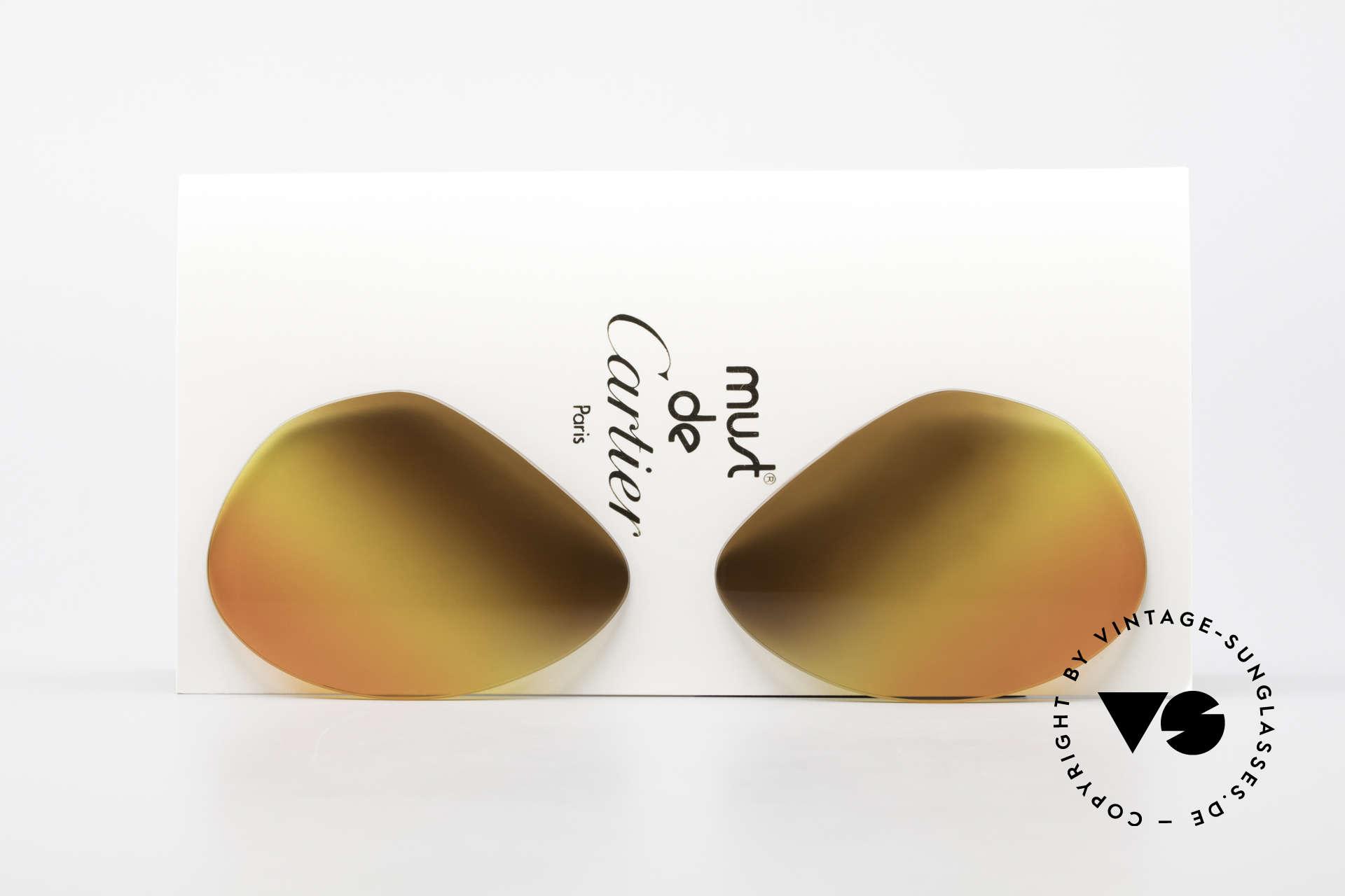 Cartier Vendome Lenses - L Triple Gradient Desert Sun, replacement lenses for the old Cartier Vendome 62mm!, Made for Men and Women