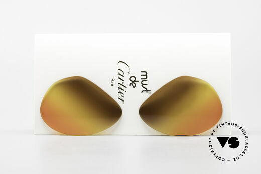 Cartier Vendome Lenses - L Triple Gradient Desert Sun Details
