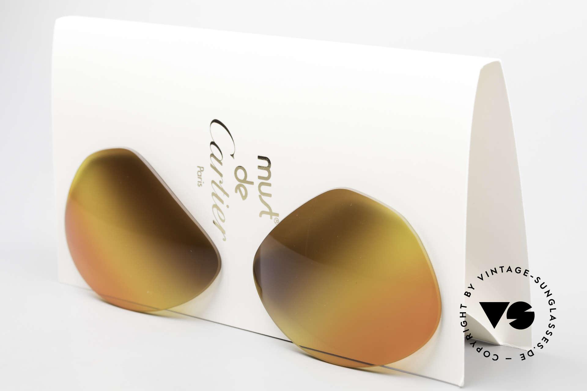Cartier Vendome Lenses - L Triple Gradient Desert Sun, new CR39 UV400 plastic lenses (for 100% UV protection), Made for Men and Women