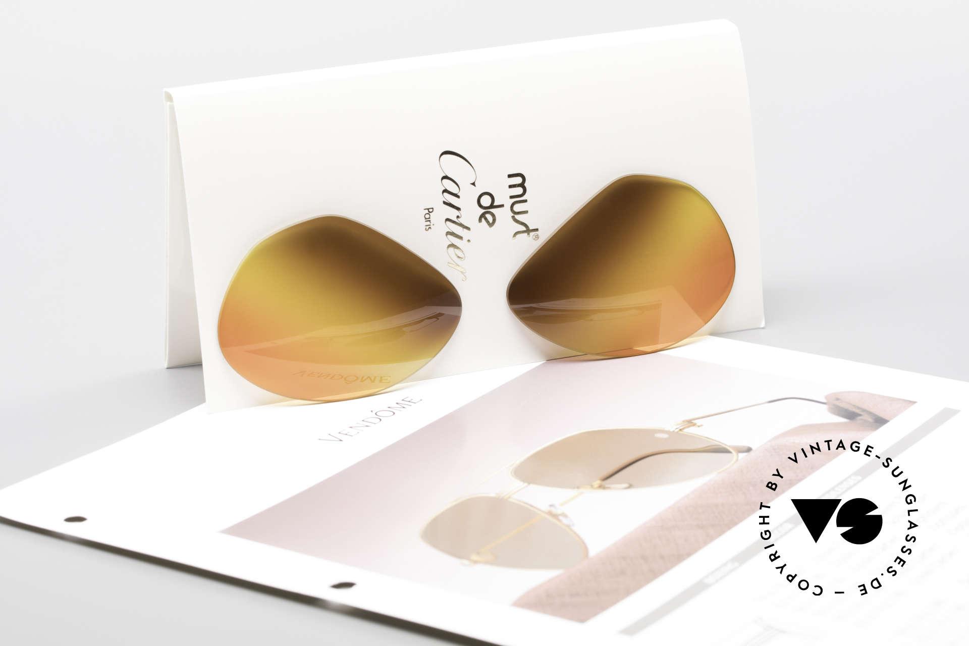 """Cartier Vendome Lenses - L Triple Gradient Desert Sun, very special triple gradient """"desert sun""""; truly unique!, Made for Men and Women"""