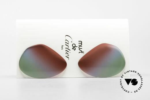 Cartier Vendome Lenses - L Bordeaux Polar Lights Tricolor Details