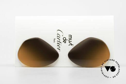 Cartier Vendome Lenses - L Double Gradient Desert Storm Details