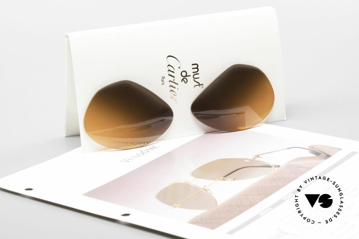 """Cartier Vendome Lenses - L Double Gradient Desert Storm, very special double gradient """"desert storm""""; truly unique, Made for Men and Women"""