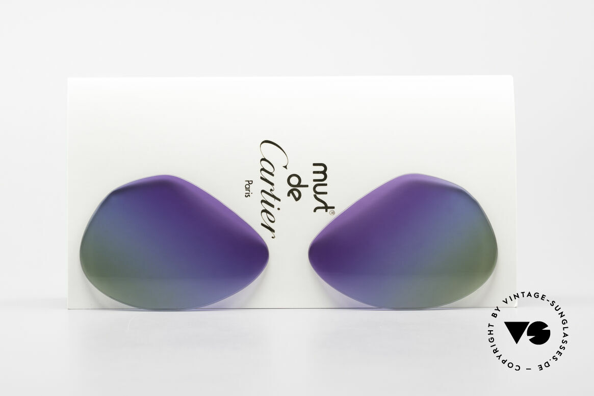 Cartier Vendome Lenses - L Purple Polar Lights Tricolor, replacement lenses for the old Cartier Vendome 62mm!, Made for Men and Women