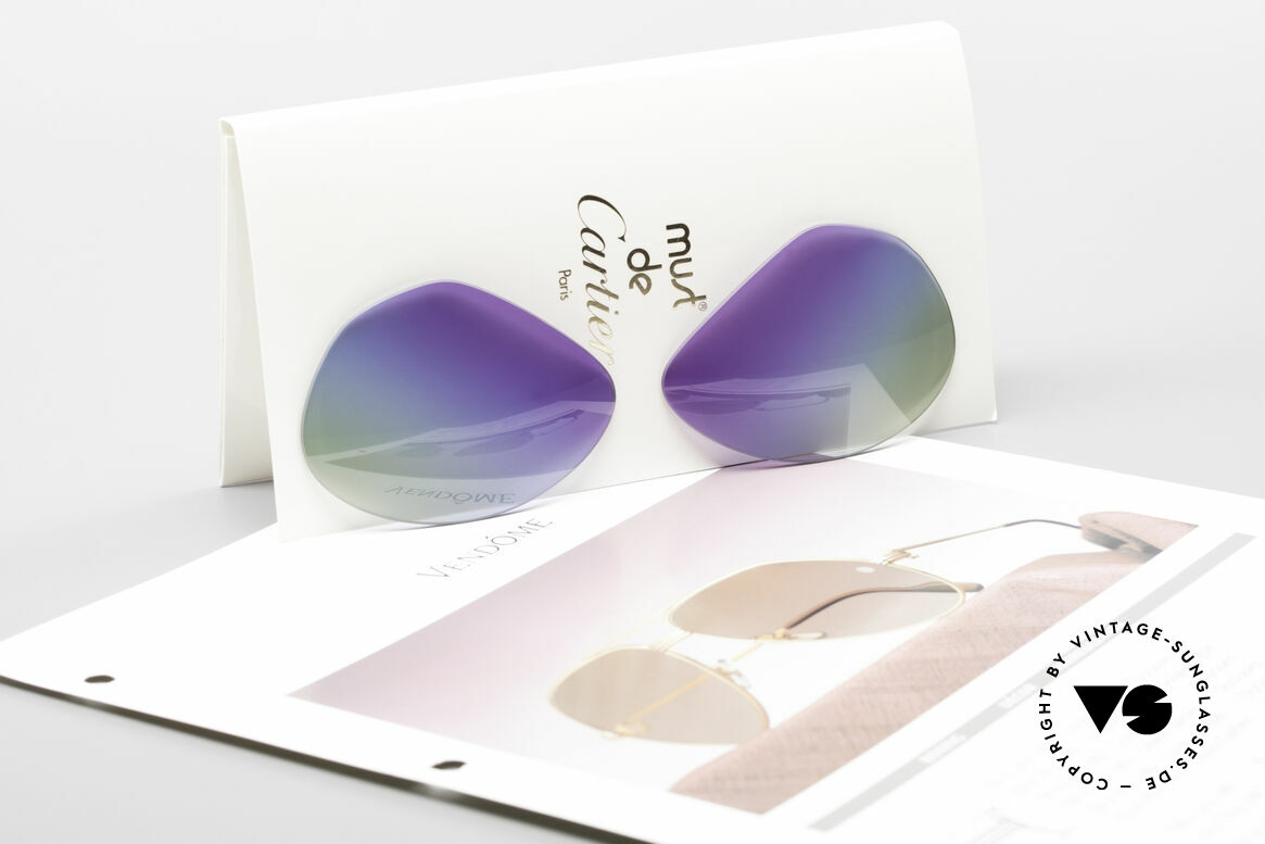 Cartier Vendome Lenses - L Purple Polar Lights Tricolor, very special TRIPLE-GRADIENT (like purple polar lights), Made for Men and Women