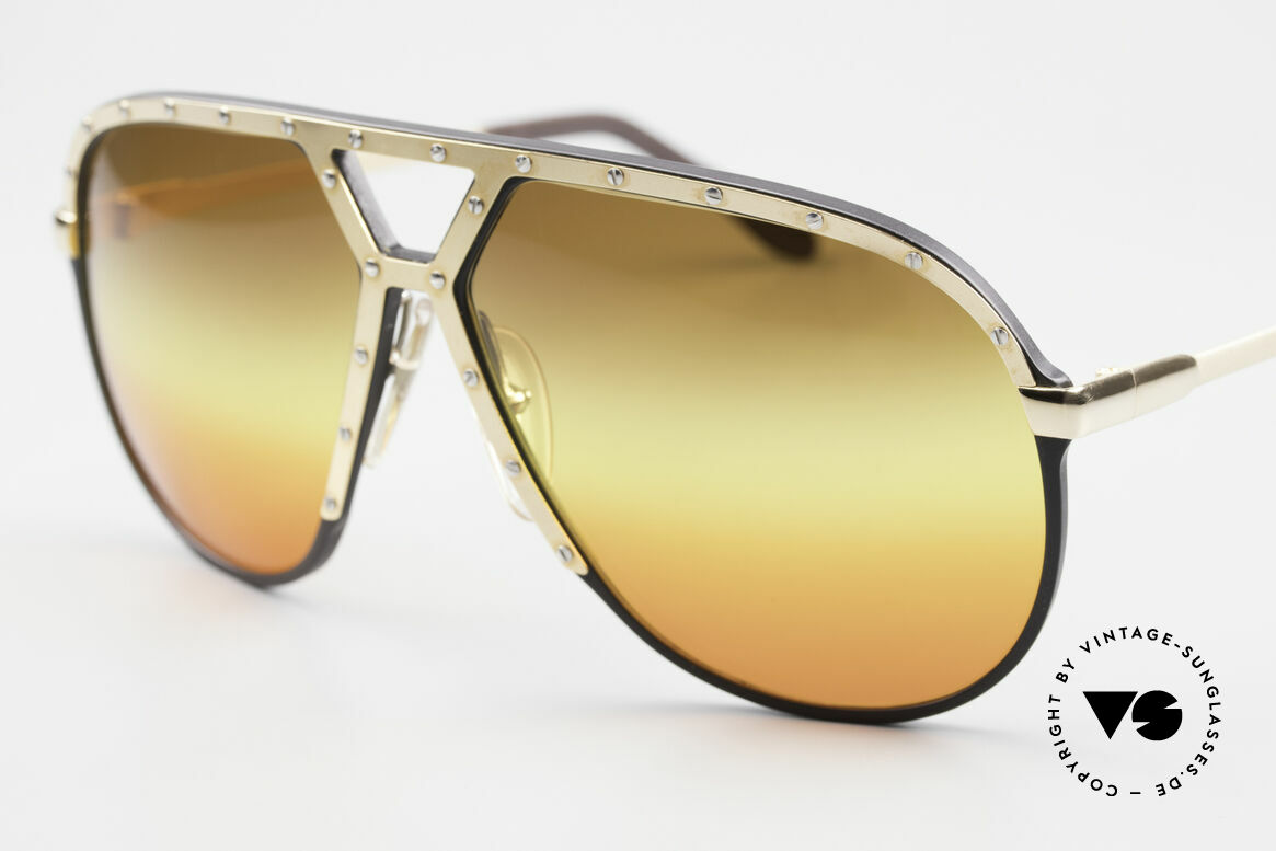 Alpina M1 80's Sunglasses Customized, customized triple-gradient sun lenses 'desert sun', Made for Men