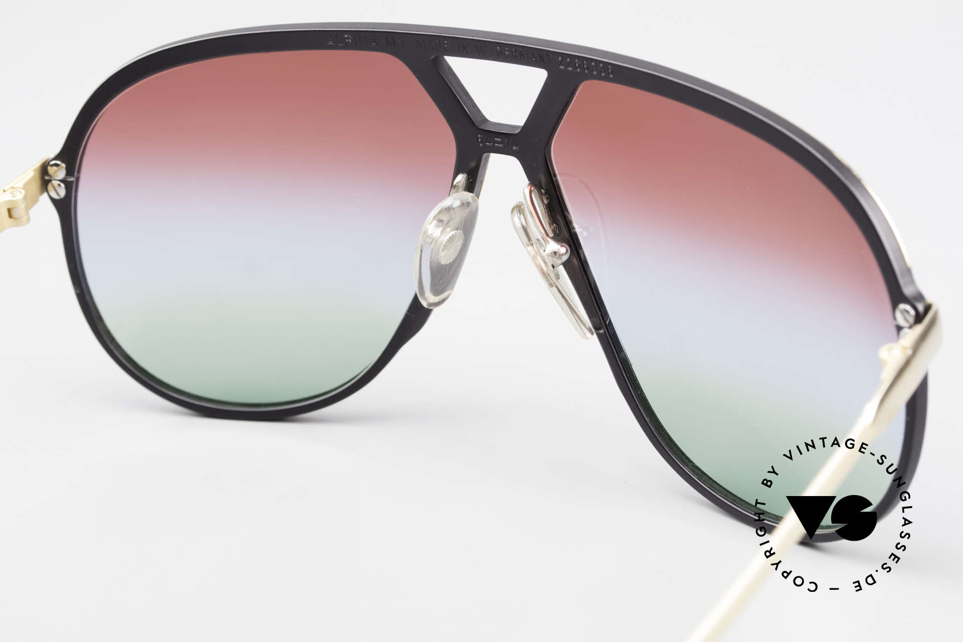 Alpina M1 Customized 80's Sunglasses, NO RETRO EYEWEAR, but a 35 years old RARITY!, Made for Men