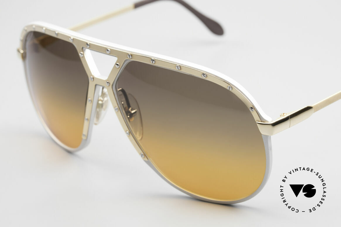 Alpina M1 80's Sunglasses One Of A Kind, customized double-gradient lenses 'desert storm', Made for Men
