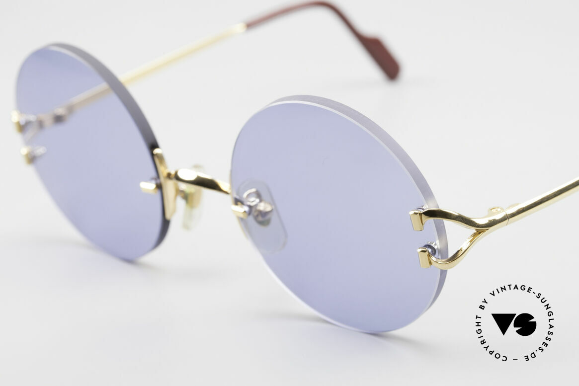 Cartier Madison Round Luxury Sunglasses 90's, with new CR39 UV400 BLUE lenses (100% UV protect.), Made for Men and Women