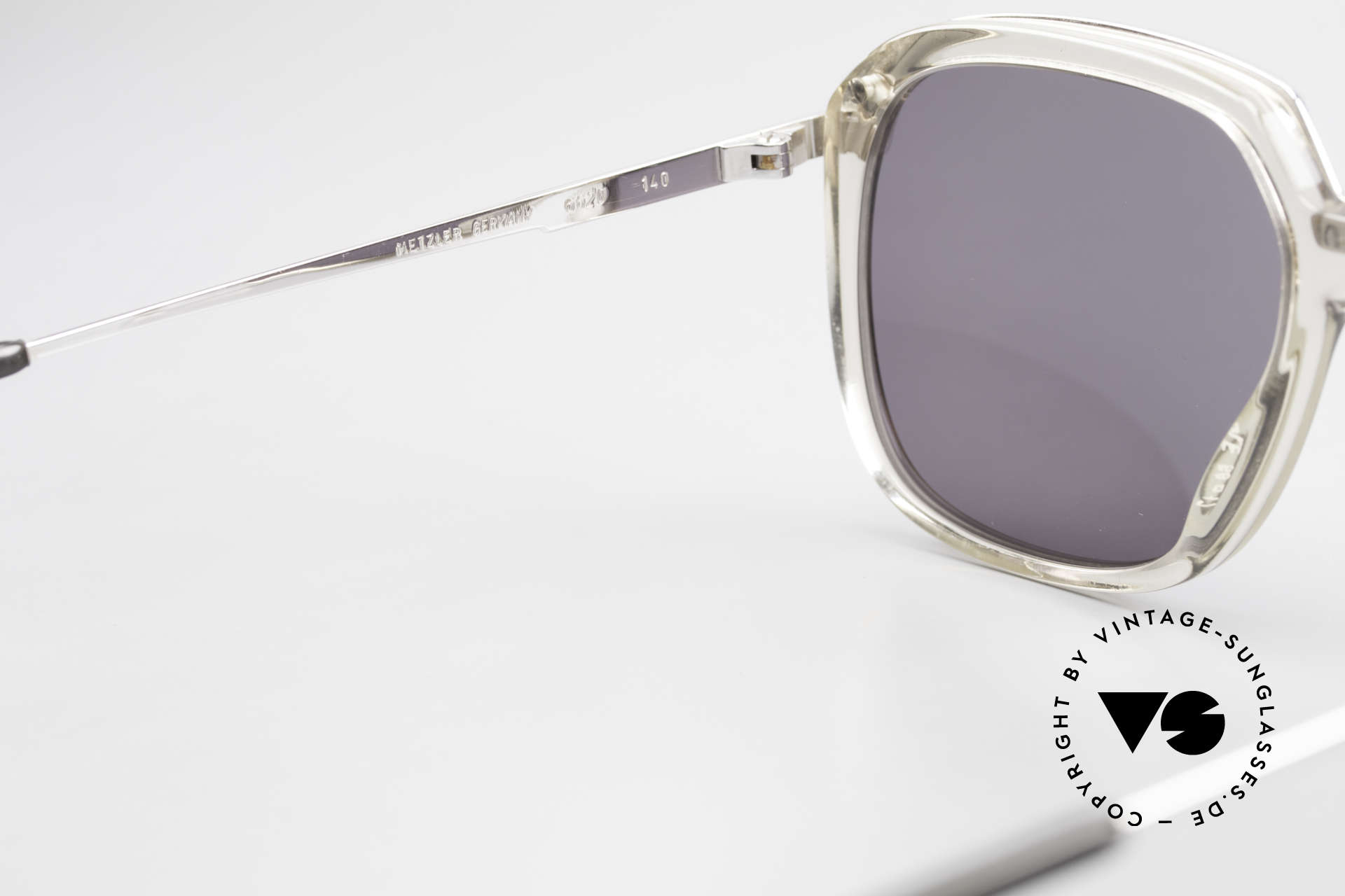 Metzler 6620 True Vintage 80's Sunglasses, the sun lenses (100% UV) can be replaced optionally, Made for Men