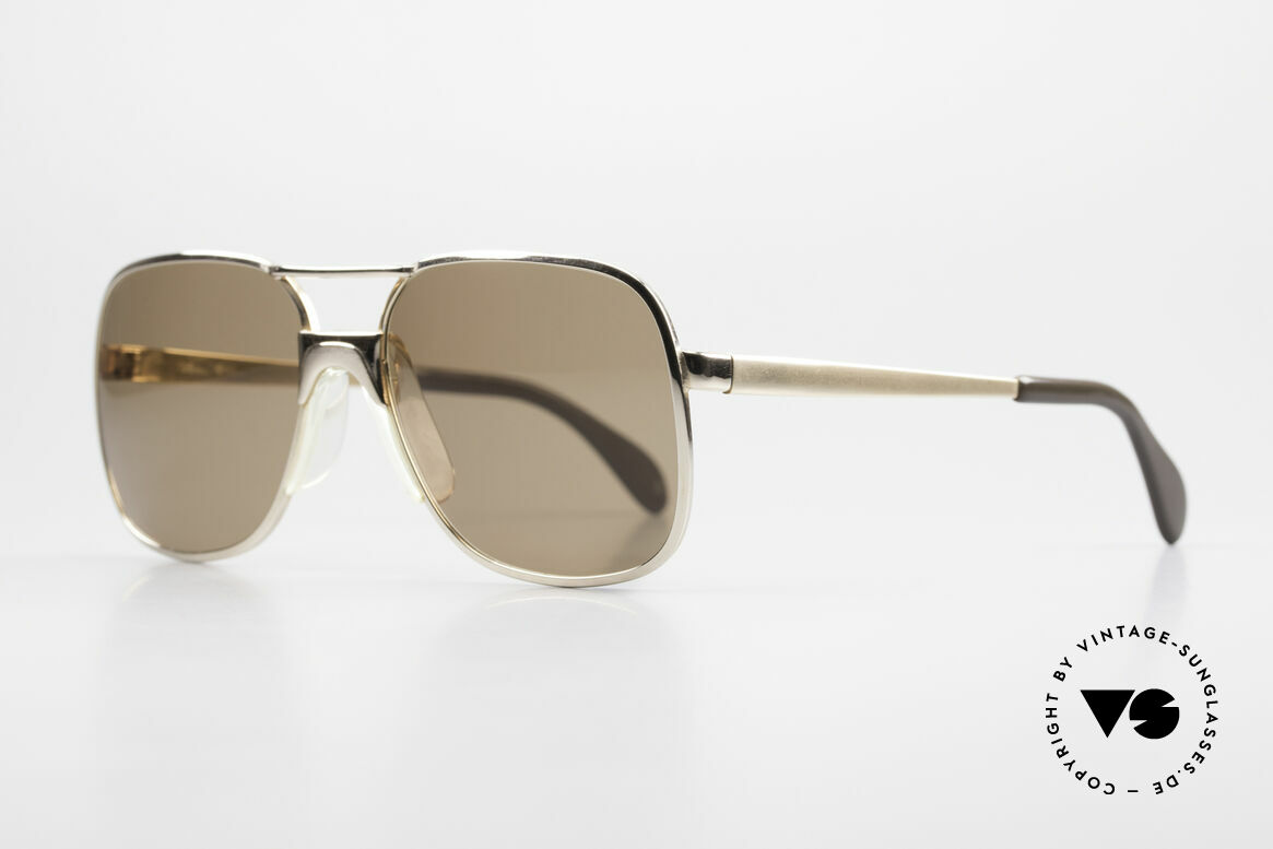 Metzler 7680 Small 80's Frame Gold Plated, GOLD-PLATED frame, monolithic (built to last), Made for Men