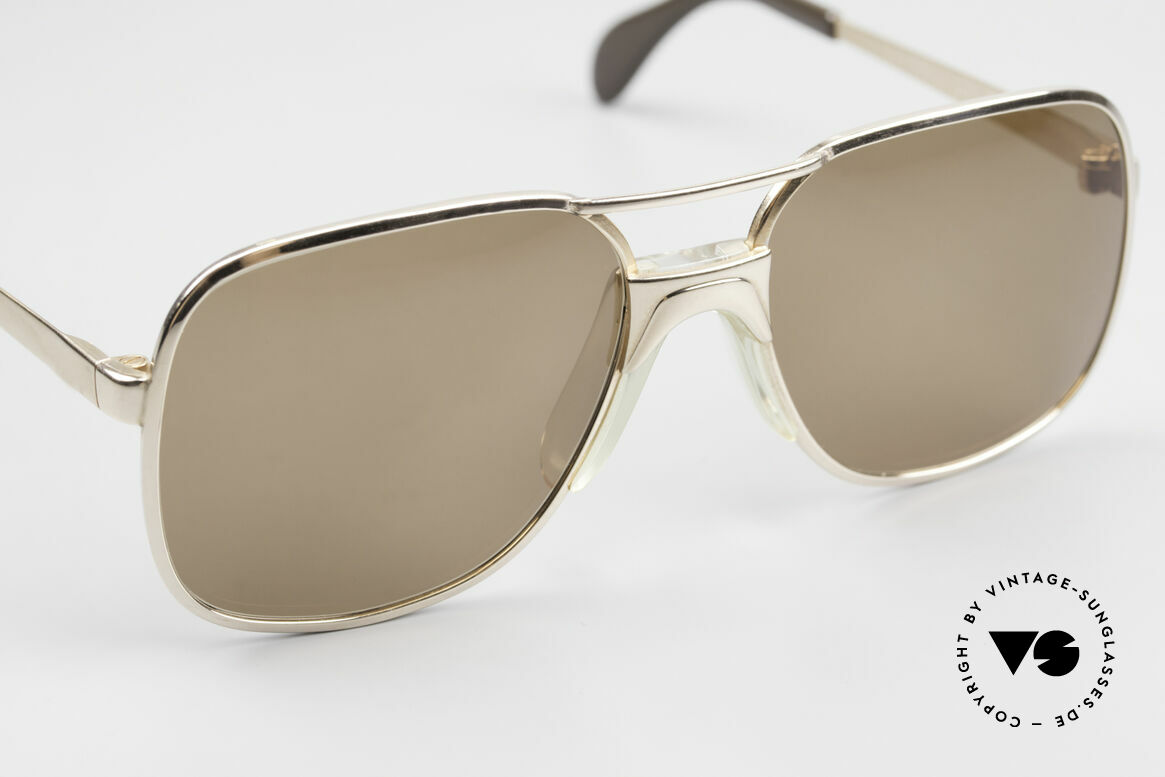 Metzler 7680 Small 80's Frame Gold Plated, NO retro shades; an approx. 35 years old original, Made for Men