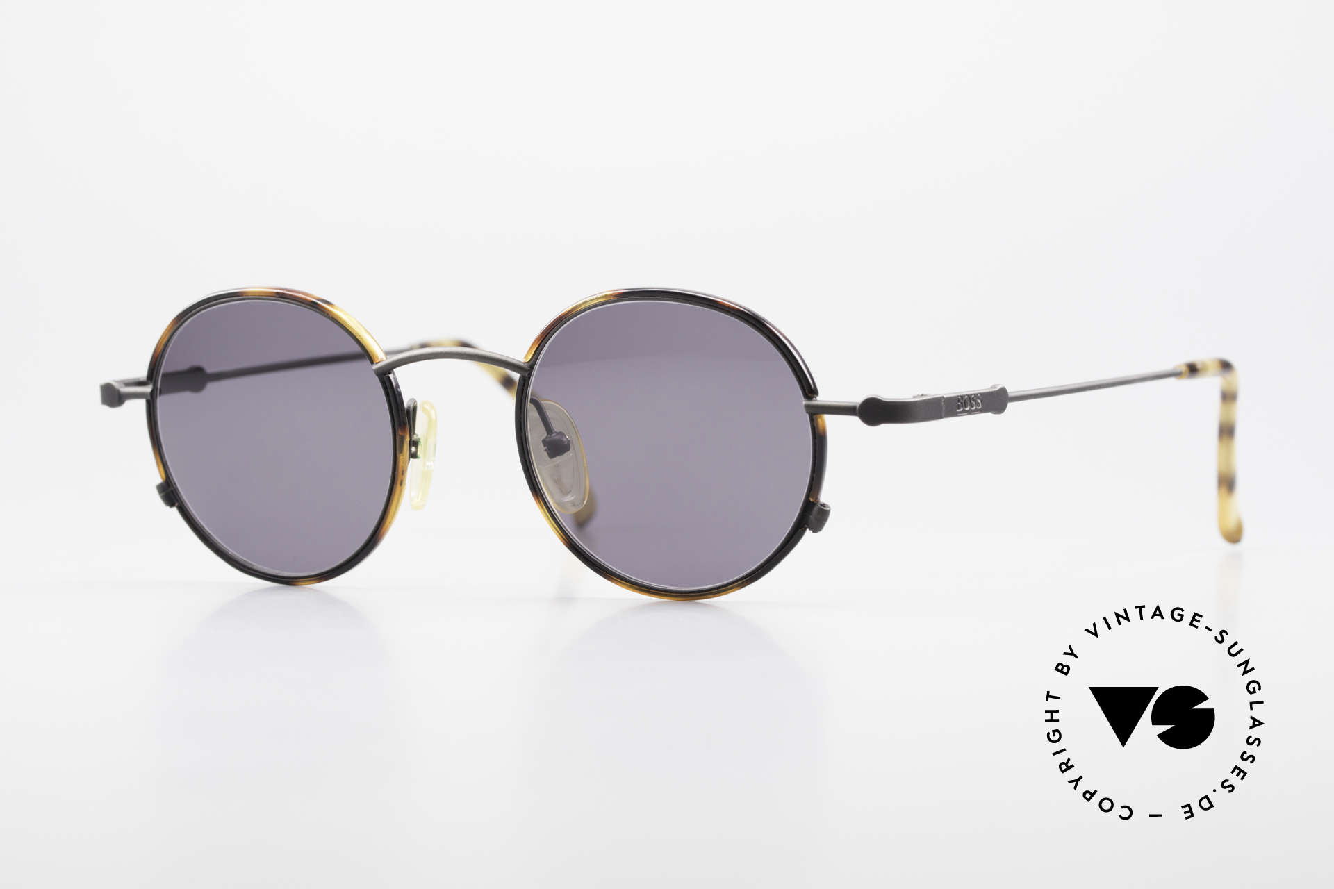 BOSS 5148 Round Panto Style Sunglasses, round vintage 'panto design' sunglasses by BOSS, Made for Men and Women