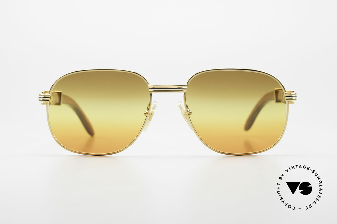 Cartier Monceau Bubinga Precious Wood Shades, rare, precious Cartier vintage sunglasses from 1990, Made for Men