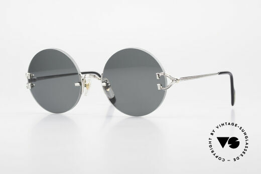 Cartier Madison Small Round Rimless Shades Details