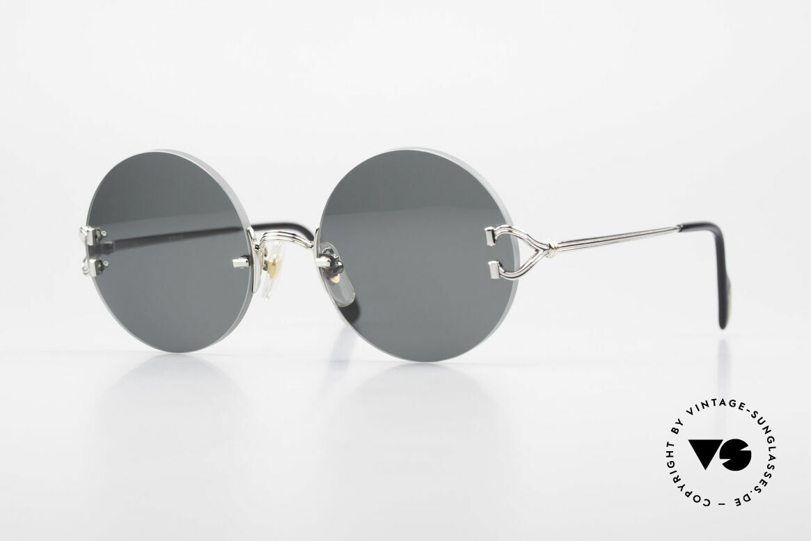 Cartier Madison Small Round Rimless Shades, noble rimless CARTIER luxury sunglasses from 1997, Made for Men and Women