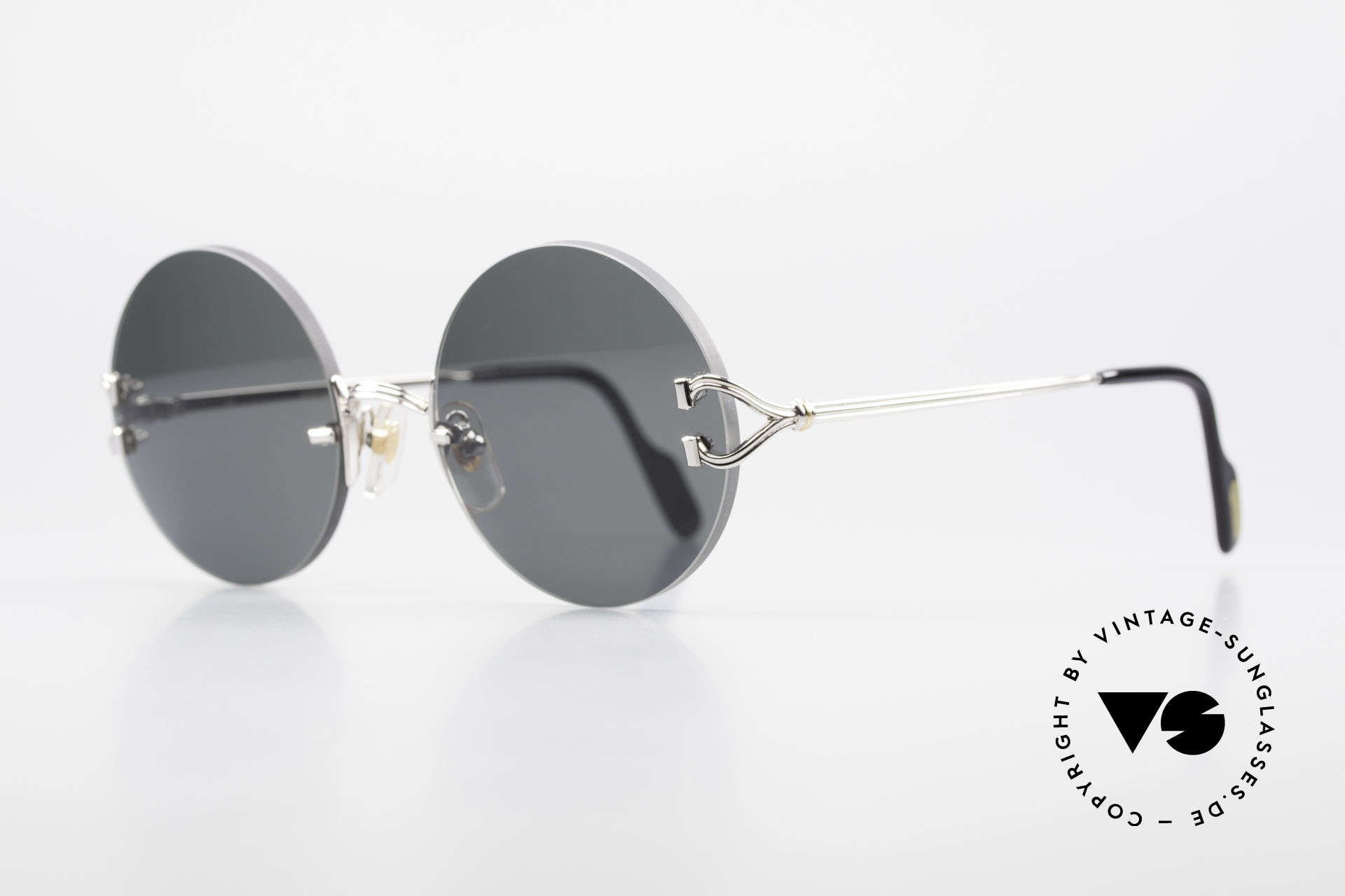Cartier Madison Small Round Rimless Shades, 2nd hand model, but in mint condition + orig. box, Made for Men and Women