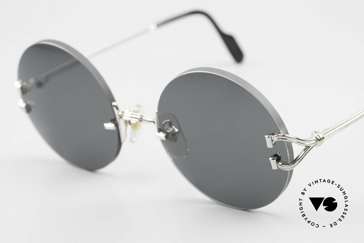 Cartier Madison Small Round Rimless Shades, with new gray CR39 UV400 lenses; 100% UV protect., Made for Men and Women