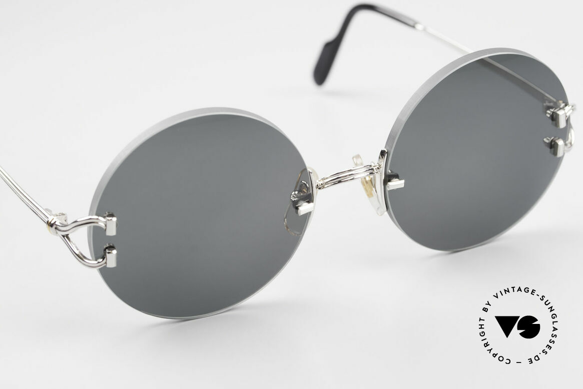 Cartier Madison Small Round Rimless Shades, 130mm temples and 127mm width = a SMALL size!!!, Made for Men and Women