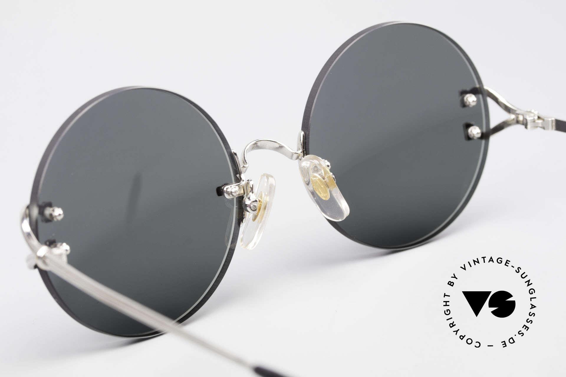 Cartier Madison Small Round Rimless Shades, NO RETRO sunglasses, but a rare old Cartier original, Made for Men and Women