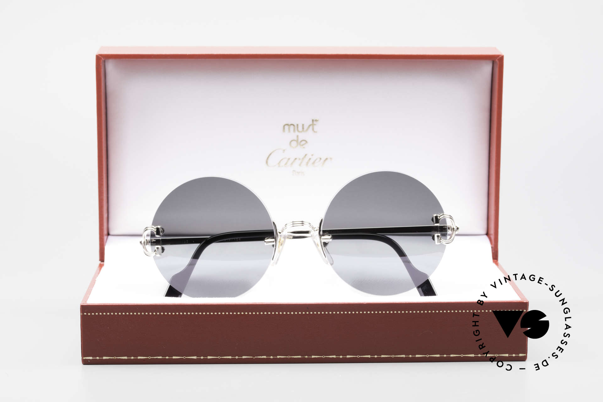 Cartier Madison Small Round Rimless Shades, Size: small, Made for Men and Women