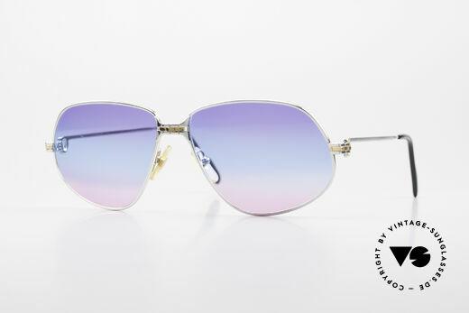 Cartier Panthere G.M. - L Platinum Finish Tricolored 80s Details