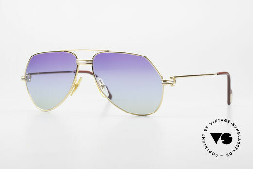 Cartier Vendome LC - S 80's Sunglasses Polar Lights Details