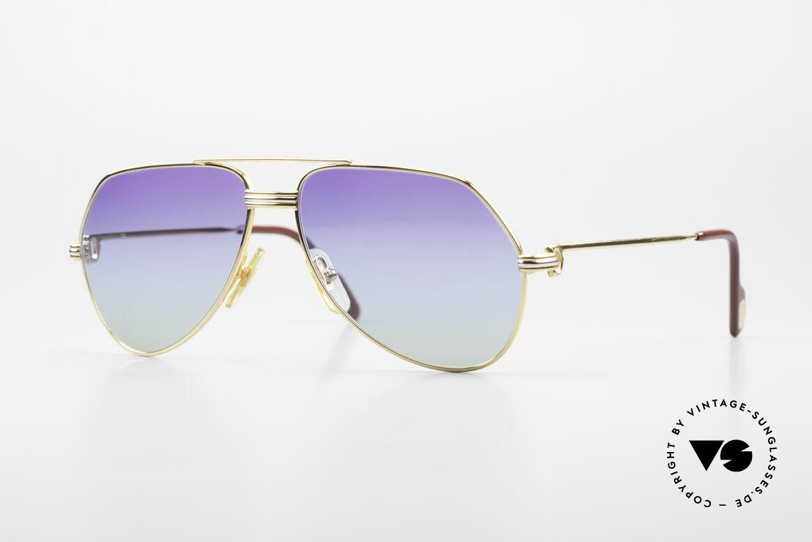 Cartier Vendome LC - S 80's Sunglasses Polar Lights, vintage Cartier Vendome glasses; famous aviator style!, Made for Men and Women