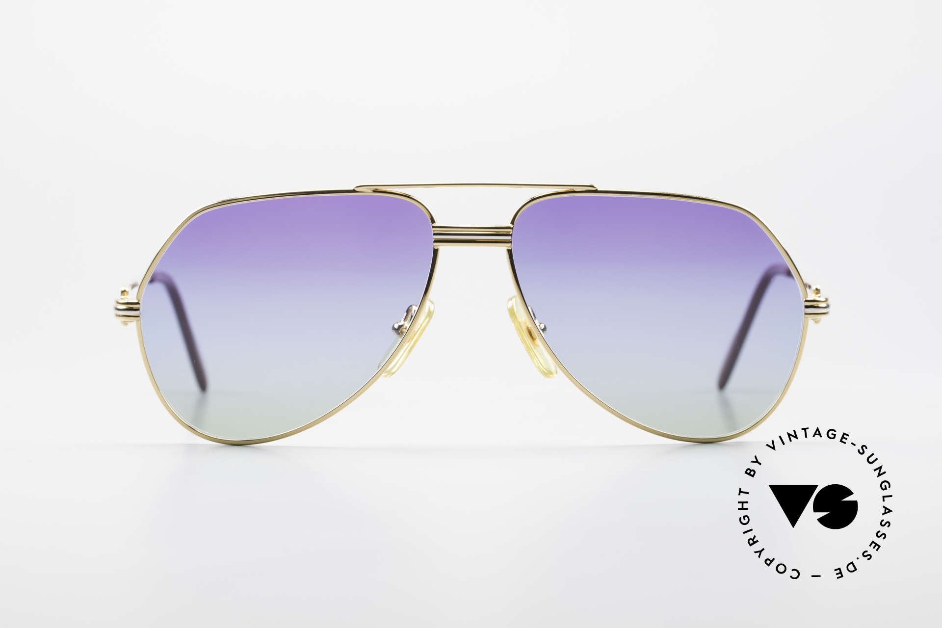 """Cartier Vendome LC - S 80's Sunglasses Polar Lights, model """"Vendome"""" was launched in 1983 & made till 1997, Made for Men and Women"""