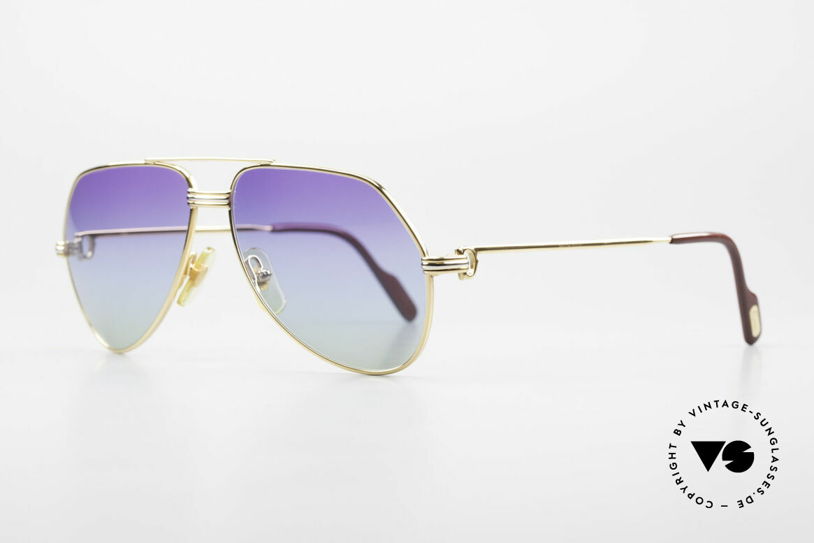 Cartier Vendome LC - S 80's Sunglasses Polar Lights, this pair (Louis Cartier decor): in SMALL size 56-14, 130, Made for Men and Women