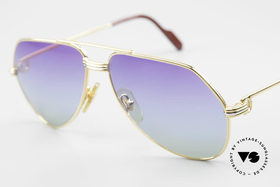 Cartier Vendome LC - S 80's Sunglasses Polar Lights, new fancy triple-gradient sun lenses (like polar lights), Made for Men and Women
