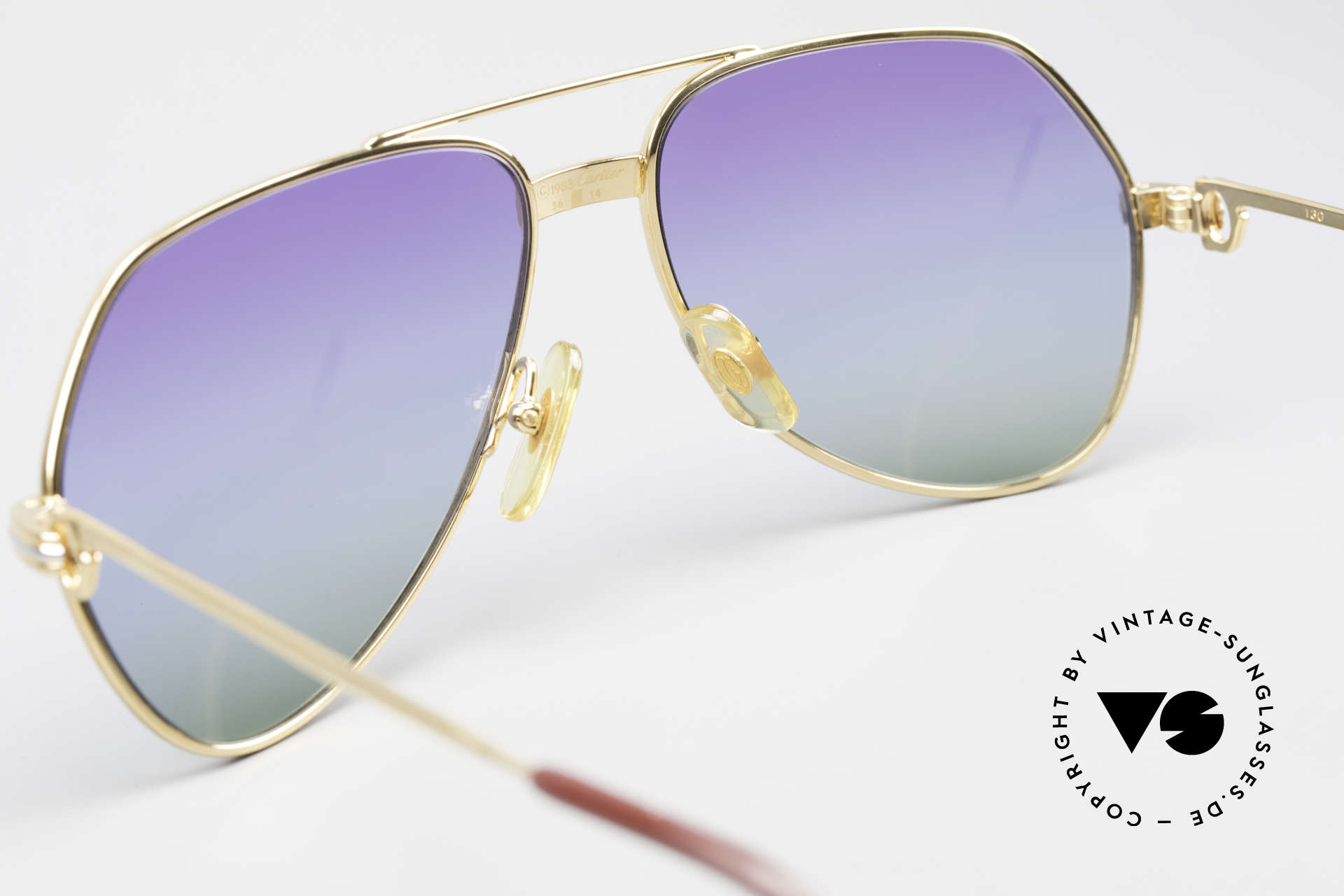 Cartier Vendome LC - S 80's Sunglasses Polar Lights, NO retro sunglasses, but an authentic vintage ORIGINAL, Made for Men and Women