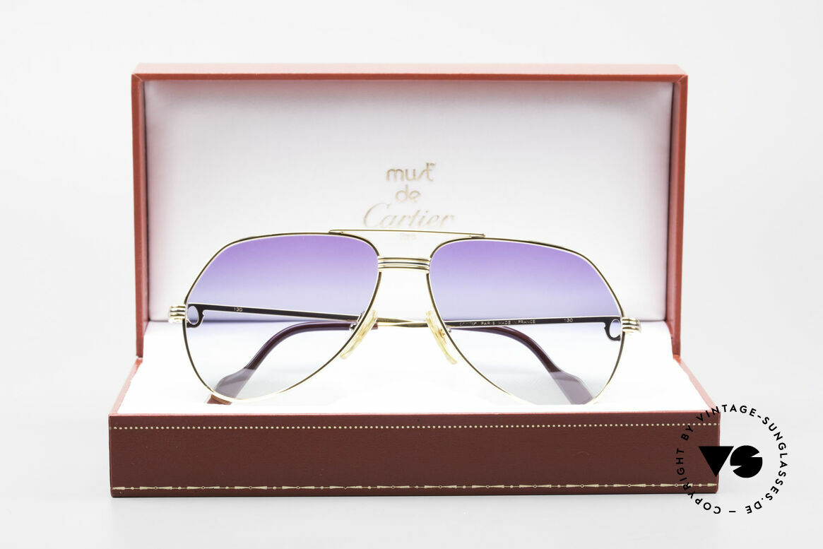 Cartier Vendome LC - S 80's Sunglasses Polar Lights, Size: medium, Made for Men and Women