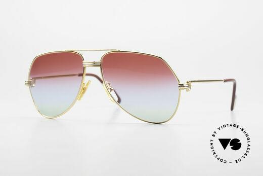 Cartier Vendome LC - S 1980's Sunglasses Tricolored Details